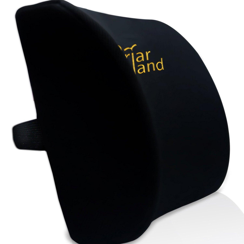 amazon com memory foam lumbar back support cushion pillow for