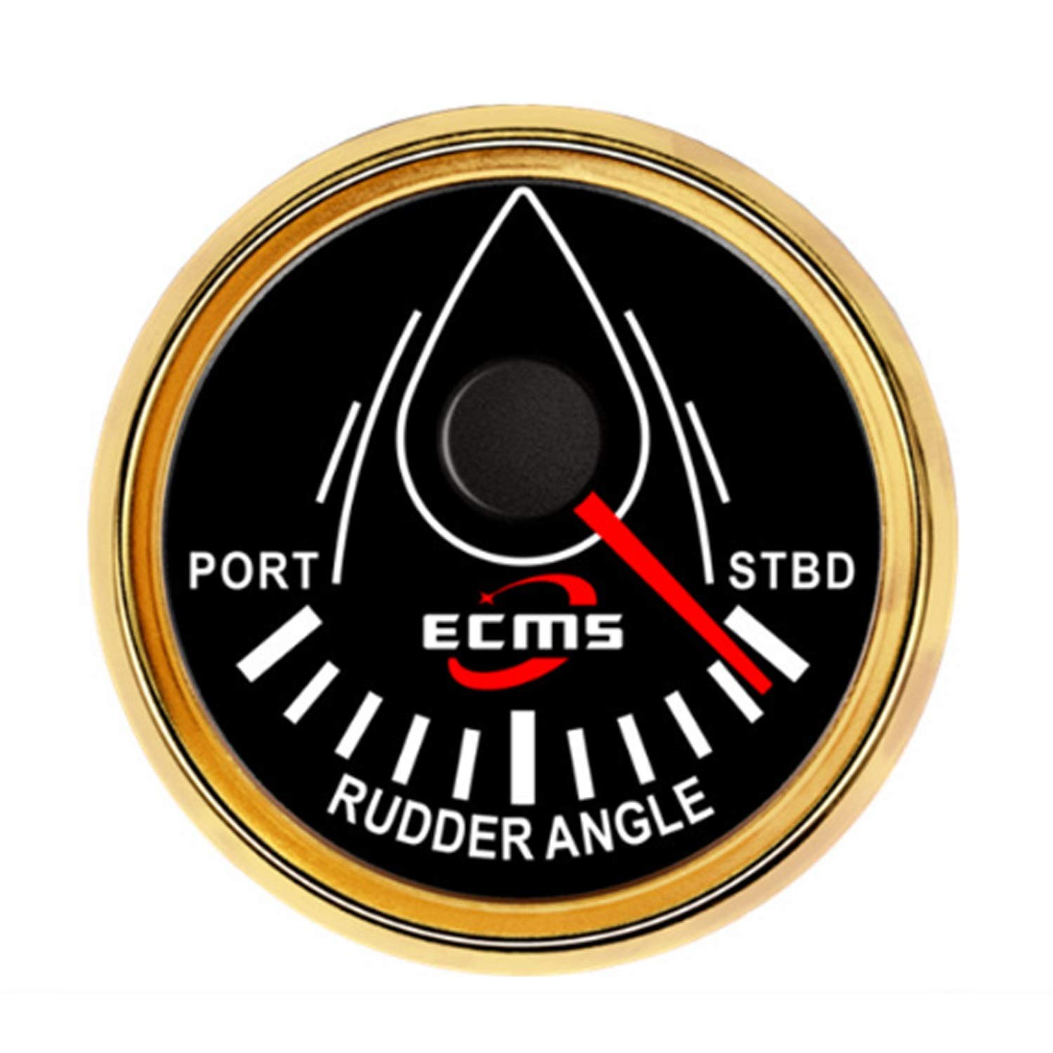 Low Power Consumption Waterproof Rudder Angle Indicator Gauge Meter 0-190ohm with Mating Sensor 2''(52mm) with Backlight, Waterproof, Lightning-Proof by JUNJIAGAO-gauge