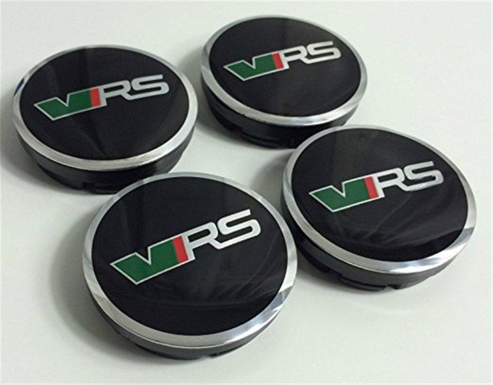 FABIA VRS RS OCTAVIA VRS RS 4X SKODA ALLOY WHEEL CENTRE CAPS BLACK//CHROME 56mm