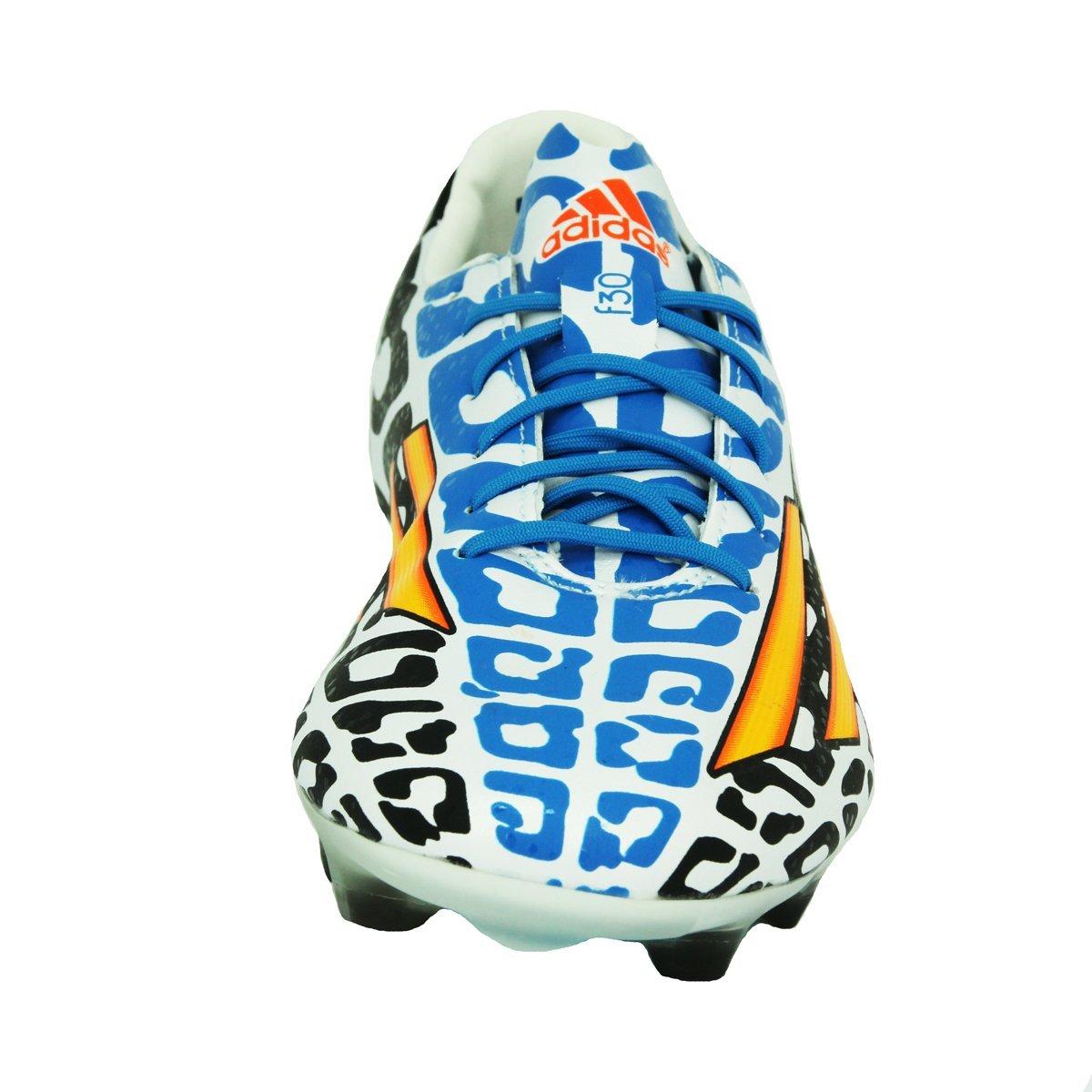 newest a639f 058d0 adidas Performance F30 FG Zapatillas de Futbol Blanco Negro Azul para  Hombre Lionel Messi  Amazon.es  Deportes y aire libre