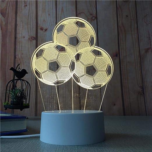 Xiak Creativo 3D Illusion 3 Colores Mesa Escritorio Deco lámpara ...
