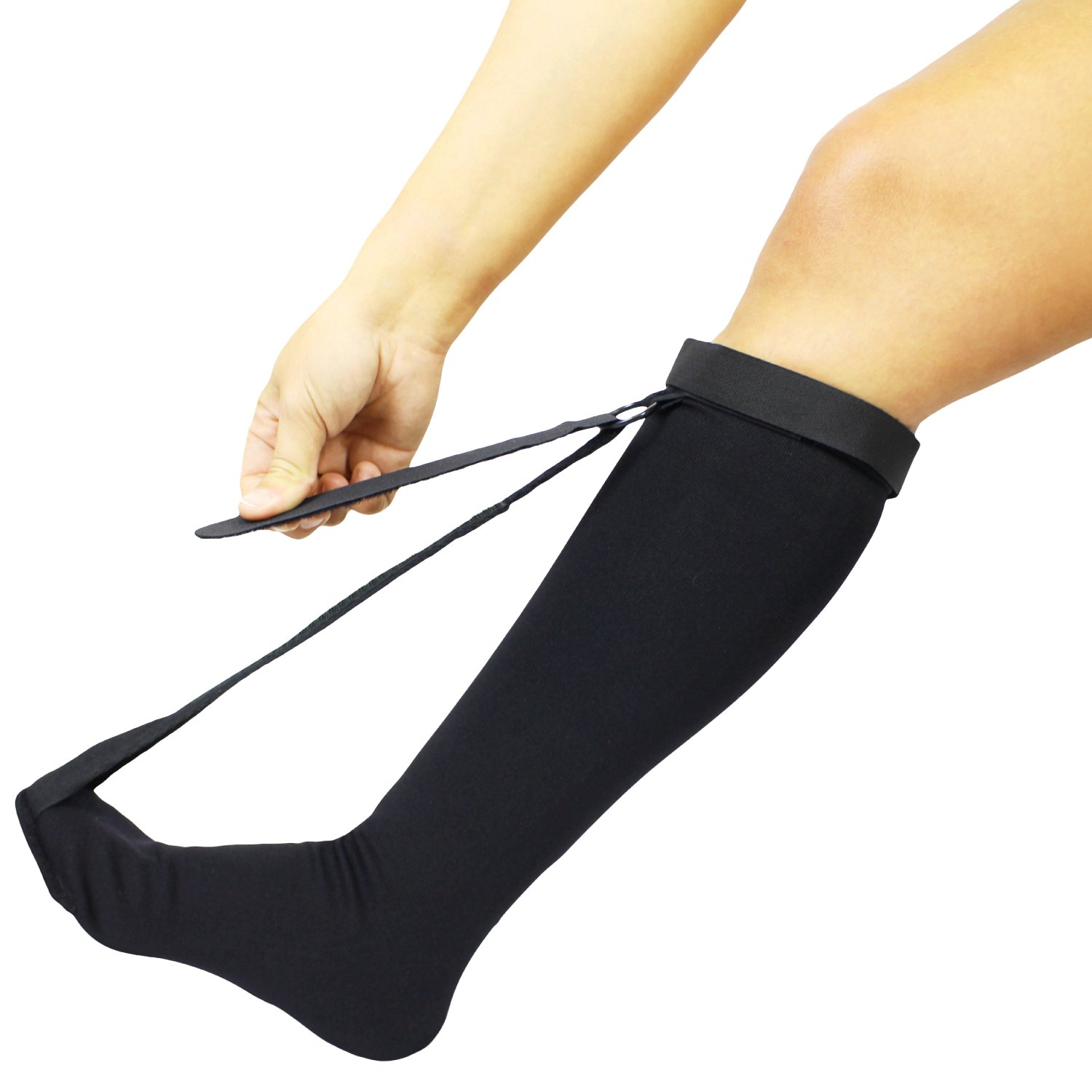 Plantar Fasciitis Sock by Vive - Night Sock for Achilles Tendonitis & Heel Pain Relief - Support Stretch Therapy
