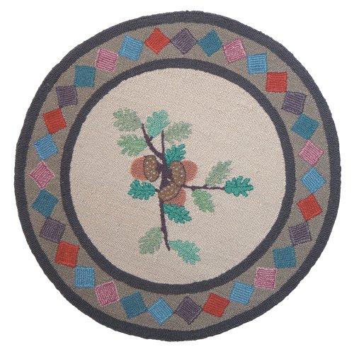 - Patch Magic Acres of Acorns Round Rug, 36-Inch Diameter