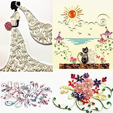 18pcs papel Quilling herramienta de bricolaje de Craft Multicolor Full Kit pinzas trabajo Junta molde guía de cuadrícula: Amazon.es: Juguetes y juegos