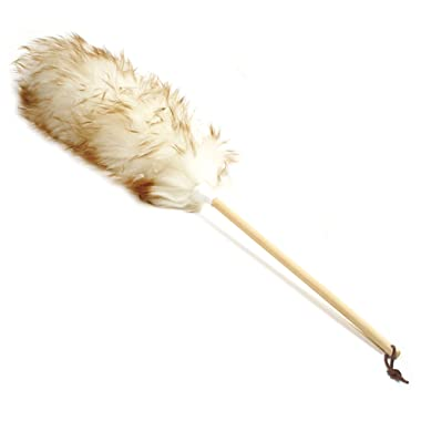 Norpro 24-Inch Pure Lambs Wool Duster with Wood Handle