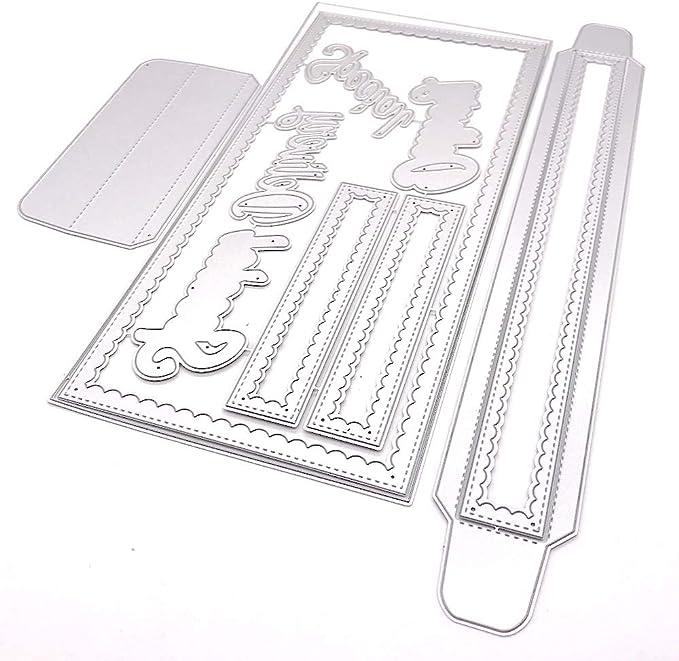 KSCRAFT Slimline Burlap Background Metal Cutting Dies Stencils for DIY Scrapbooking//Photo Album Decorative Embossing DIY Paper Cards