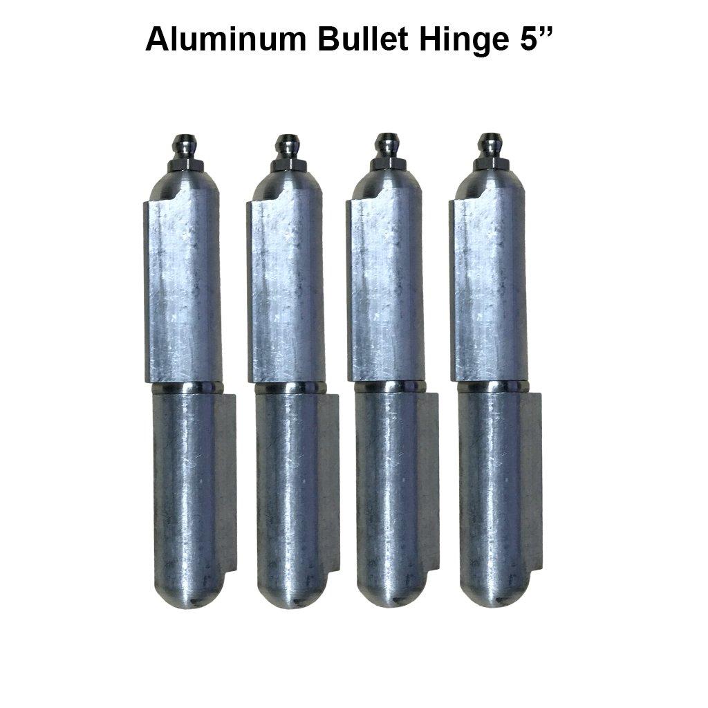 5'' Aluminum Weld On Hinge Body Bullet Stainless Steel Bushing/Pin Lot 2 Pair