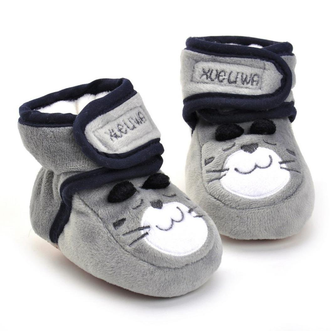 Amiley Baby Kids Comfortable Casual Shoes Winter Girls Boys Lovely Cartoon Hiking Snow Boots