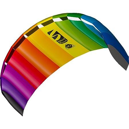 HQ 11768250 - Symphony Beach III 1.8 Rainbow, Zweileiner Lenkmatten, ab 12 Jahren, 60x180cm, inkl. 70 kp Blendlineschnüre 2x2