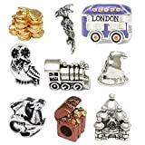 Harry Potter Inspired Nine Charm Set - Includes Double 35MM Film Cell Keychain Included with Charm Set!