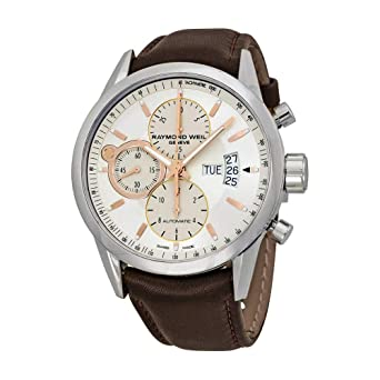 15e815f04 Image Unavailable. Image not available for. Color: Raymond Weil Freelancer  White Dial Chronograph Automatic Men's Watch 7730-STC-65025