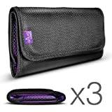 (3 Pack) 6 Pocket Filter Wallet Case for Round or Square Filters + Premium MagicFiber Microfiber Cleaning Cloth