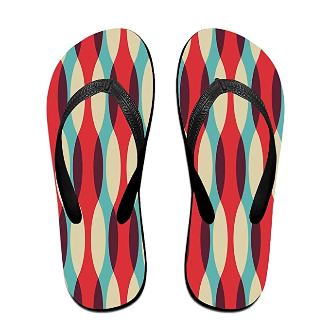 8962c2fcd2abfb Amazon.com  Abstract Pattern Top Quality Unisex Flip Flops Rubber Thong  Sandal Beach Slipper  Clothing