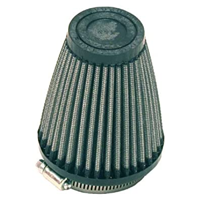 K&N Universal Clamp-On Air Filter: High Performance, Premium, Washable, Replacement Filter: Flange Diameter: 2.25 In, Filter Height: 4 In, Flange Length: 0.625 In, Shape: Round Tapered, R-1260: Automotive