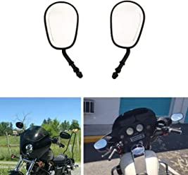 Goldfire Black Sportster Mirrors for Road King Street Electra Glide Dyna Softail Road Glide Motorcycle Rearview 1982-2019 CNC CUT
