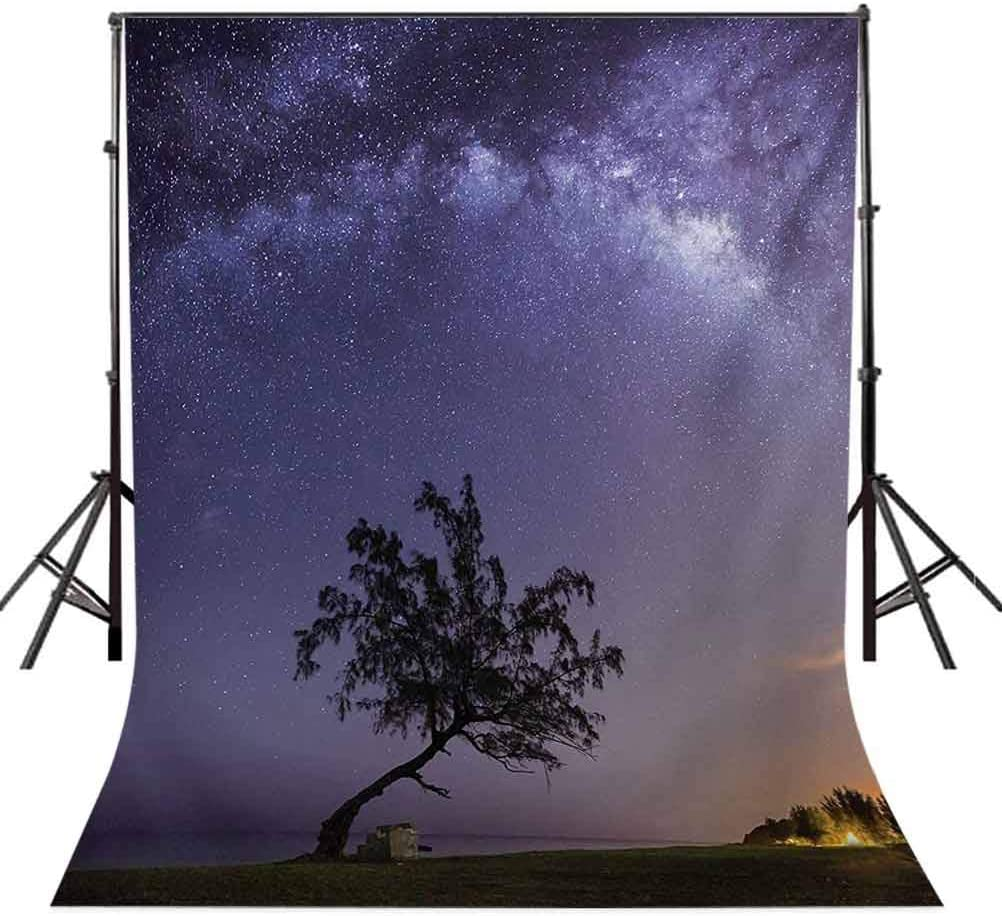 Nebula 10x12 FT Photo Backdrops,Tree and Milky Way Outer Space Galaxy Stars Theme Dreamy Modern Artwork Print Background for Baby Shower Bridal Wedding Studio Photography Pictures Purple Dark Green