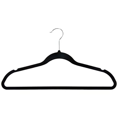 Inspired Living by Mesa (suit-clothes-hangers, ((50 Pack) Heavy Duty, BLACK/SILVER