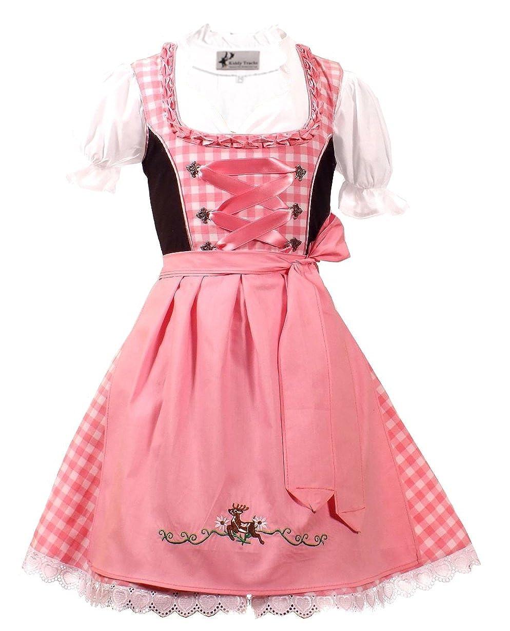 Trachtenkleid 3tlg. Kinder Dirndl Mädchen Kleid Gr. 92, 104, 116, 128, 140, 146, 152 KD-226