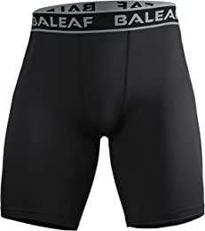 Baleaf Men's Workout Training Compression Shorts Baselayer Tights