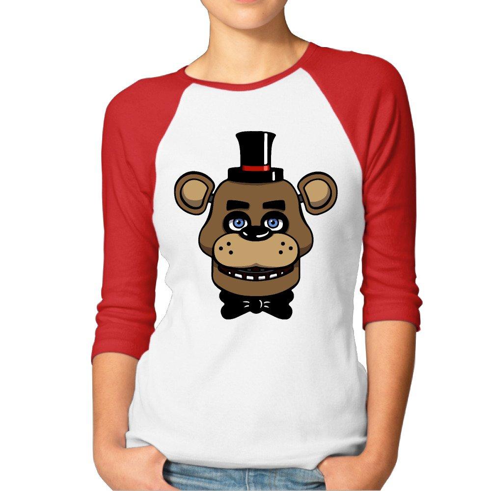 Ayashop Bear Five Nights At Fdy 3 4 Sleeve Baseball 4953 Shirts