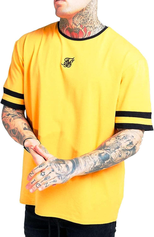 Siksilk Camiseta Oversized Amarilla Ringer Gym
