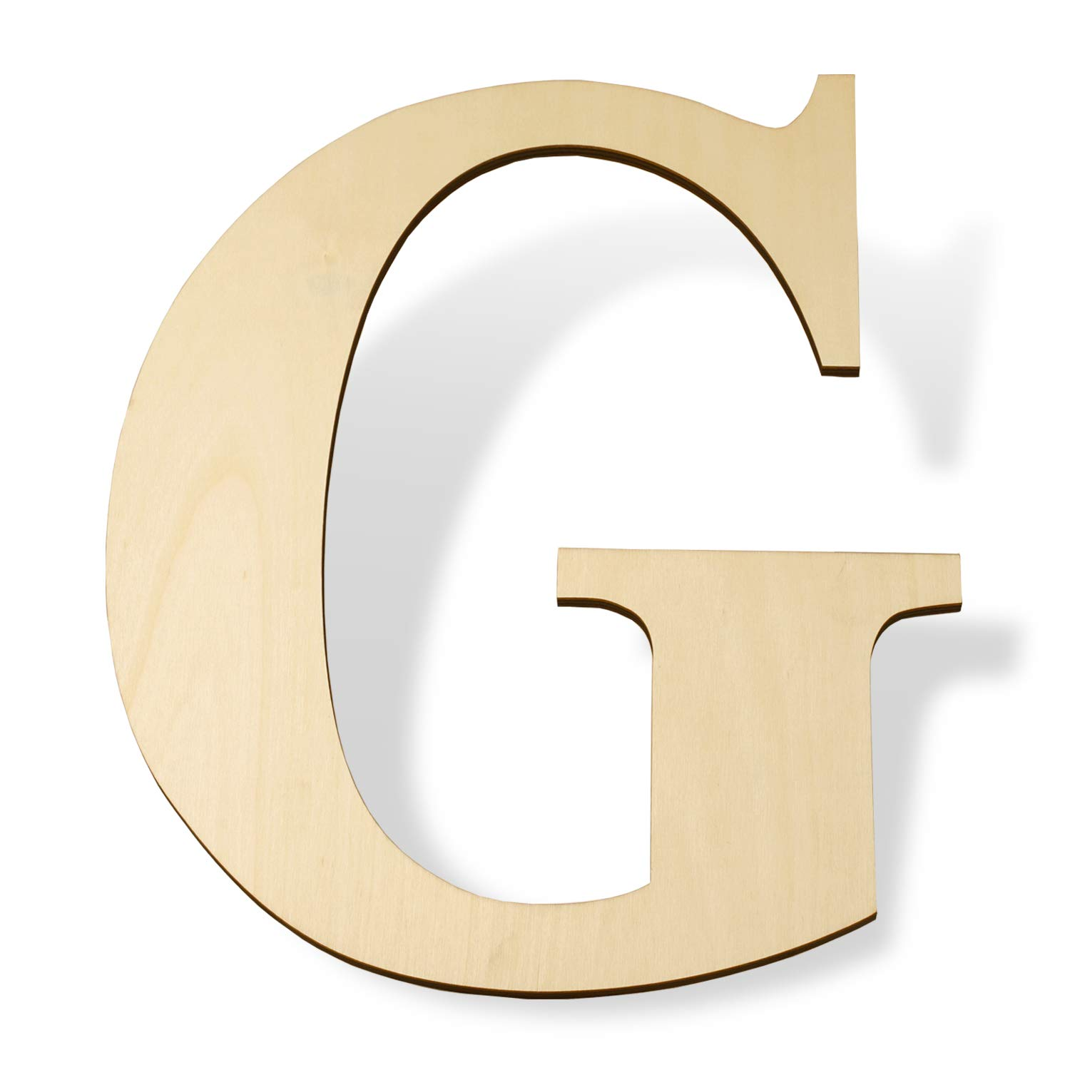 "12 inch Wooden Letters G - Blank Wood Board, Wood Letters for Walls Decor, Party, DIY Craft Projects (12"" - 1/4"" Thick, G)"