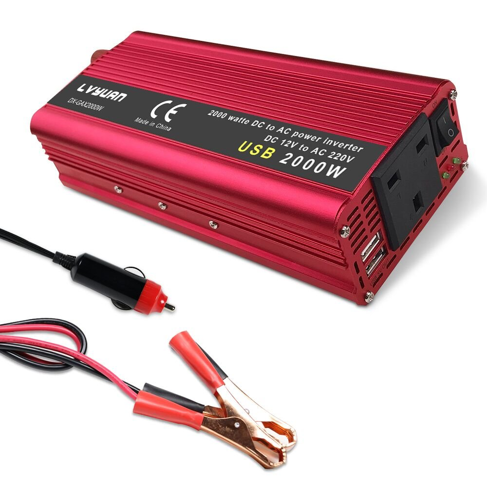 Yinleader 850W/2000W Peak Power Inverter DC TO AC 12V TO 230V 240V Converter 12V Inverter Power Supply Dual 3.1A USB GuangZhouLvYuanKeJiYouXianGongSi