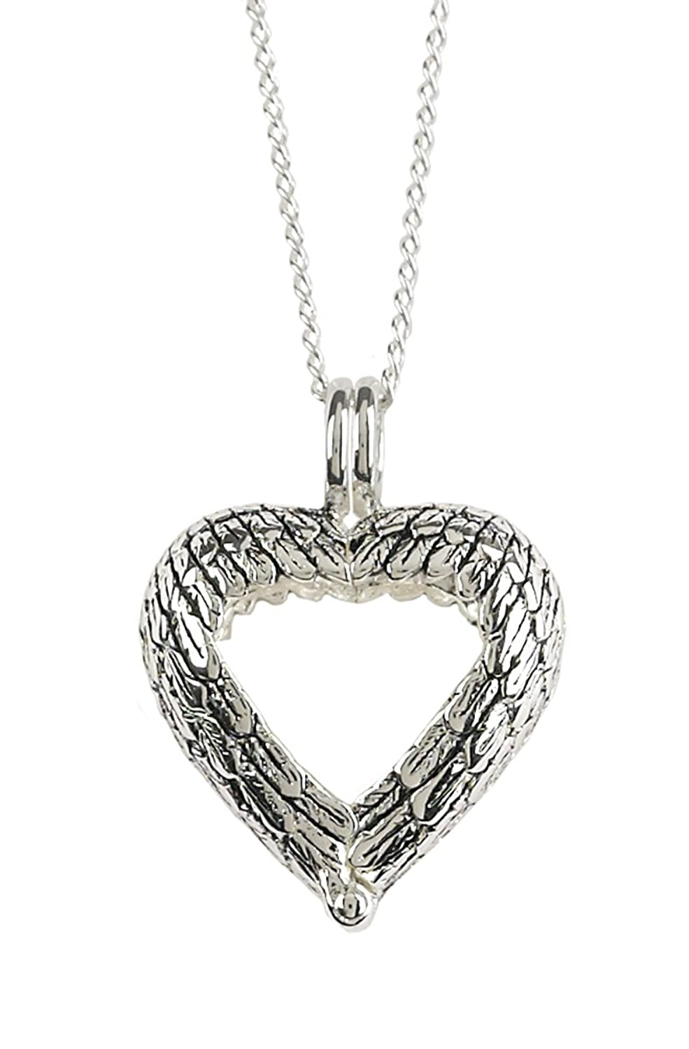 Wonderful Amazon.com: Dicksons Angel Wings Ring Holder Bereavement Memorial Silver  Plated 18 Inch Pendant Necklace: Jewelry
