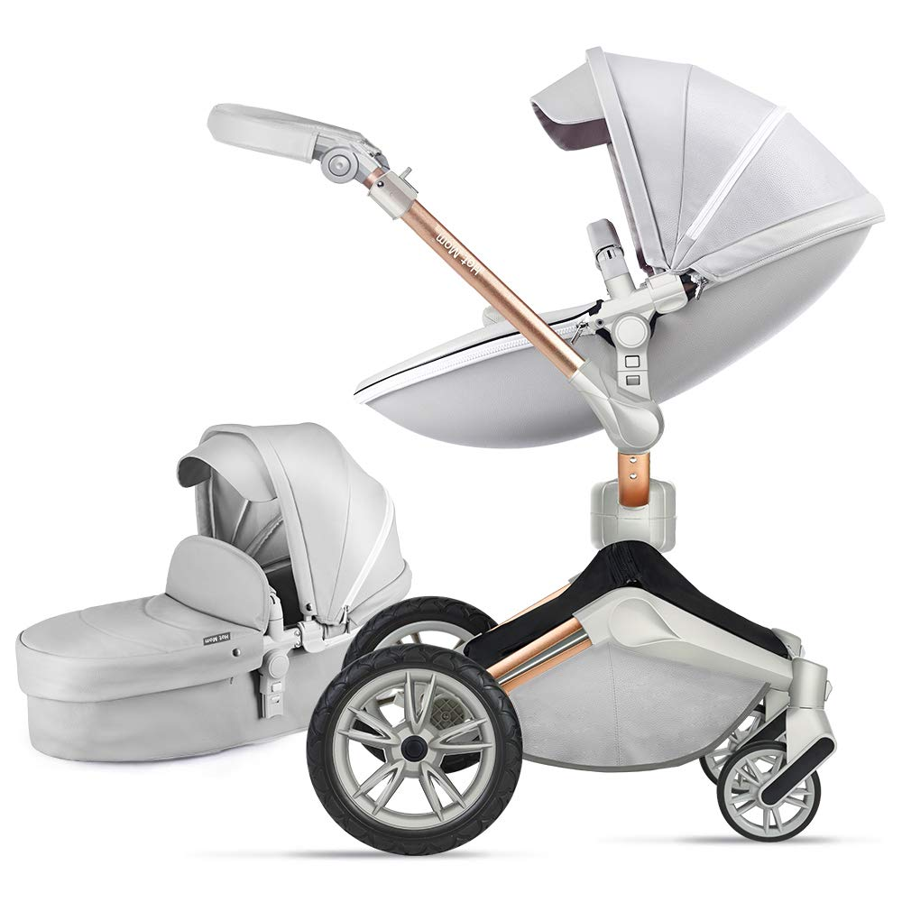 Kombikinderwagen 3 in 1 Funktion mit Buggy und Babywanne 2020 Hot Mom neues Design Leaves
