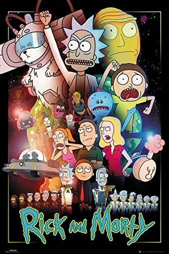 "Rick And Morty - TV Show Poster/Print (Character Collage/Wars) (Size: 24"" x 36"")"