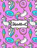 Sketchbook: Cute Unicorn Kawaii Sketchbook for