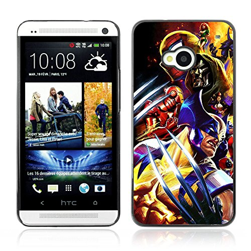 CASETOPIA / Video Game Charachters / HTC One M7 / Black Hard Back Case Cover Shell Armor Protection (Cartoon Charachters)