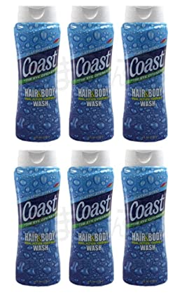 Coast Hair and Body Wash 18 Ounce, Classic Scent, 6 Pack