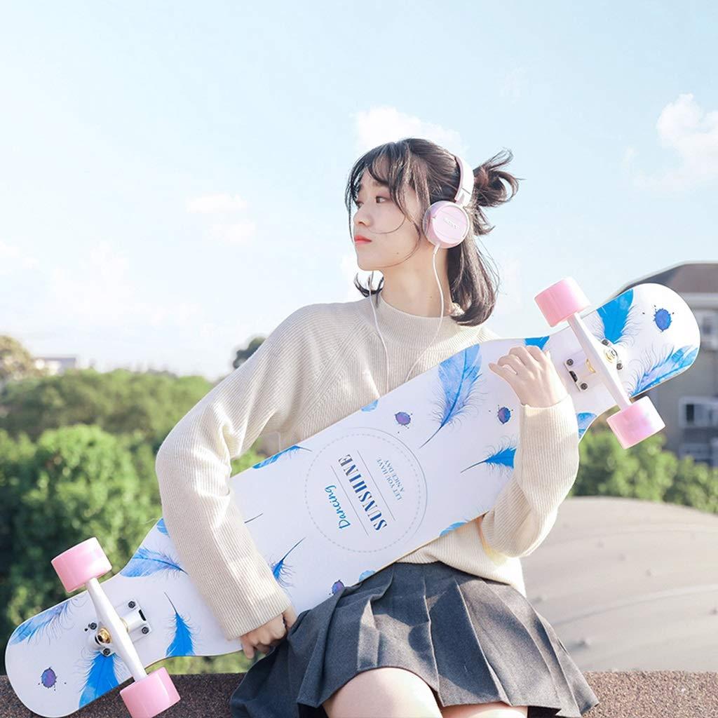 【超新作】 B07J34XK1Lロングボードスケートボード女性ダンスボードブラシストリートダブル警告初心者ユース子供プロフェッショナル四輪スケートボード B07J34XK1L, バッグと財布のリアン:254ade42 --- svecha37.ru