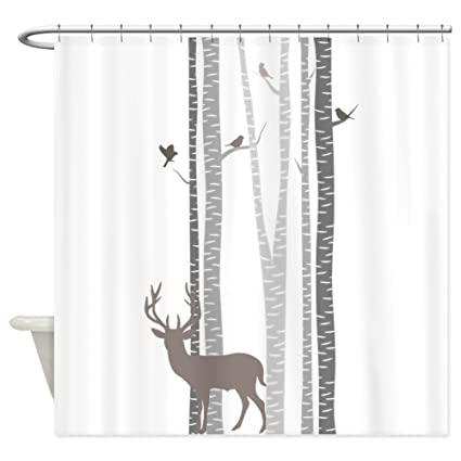 Amazon CafePress Birch Trees With Deer Decorative Fabric Shower
