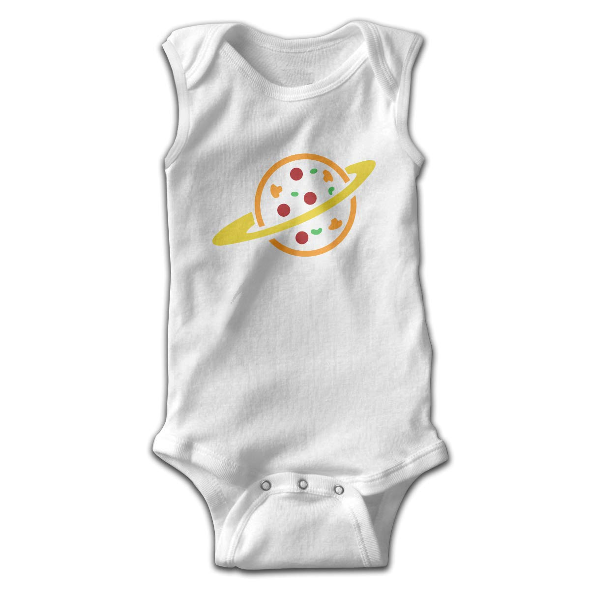 FAFU/&SKY Pizza Planet Newborn Baby Clothes Onesie Sleeveless Summer Funny Gift for Baby