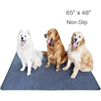 "Upgrade Non-Slip Dog Pads Extra Large 65"" x 48"", Washable Puppy Pee Pads with Fast Absorbent,…"