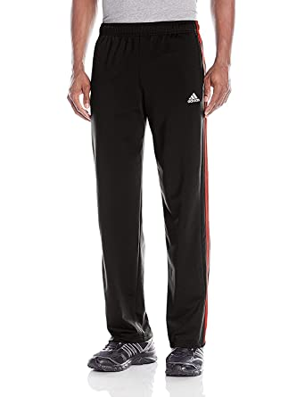 b458cc81 Adidas Tapered 3 Stripe Track Pants, Black/Red: Amazon.ca: Clothing ...