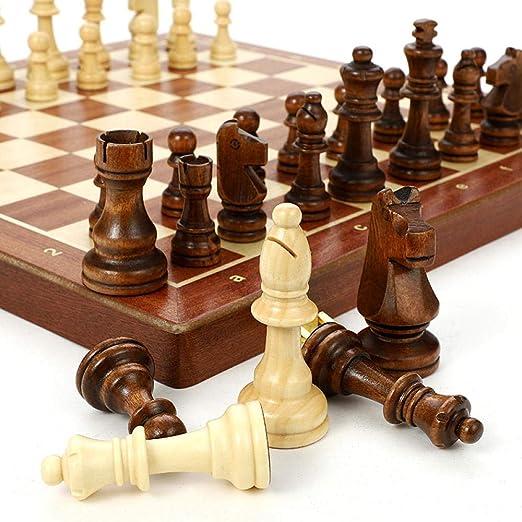 Juego de ajedrez grande plegable de madera de grado superior ...