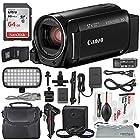 Canon Vixia HF R800 HD Camcorder (Black) Deluxe Bundle W/ Camcorder Case, 64
