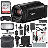 Canon Vixia HF R800 HD Camcorder (Black) Deluxe Bundle W/Camcorder Case, 64 GB SD Card, 3 Pc. Filter Kit, LED Light Kit, and Xpix...