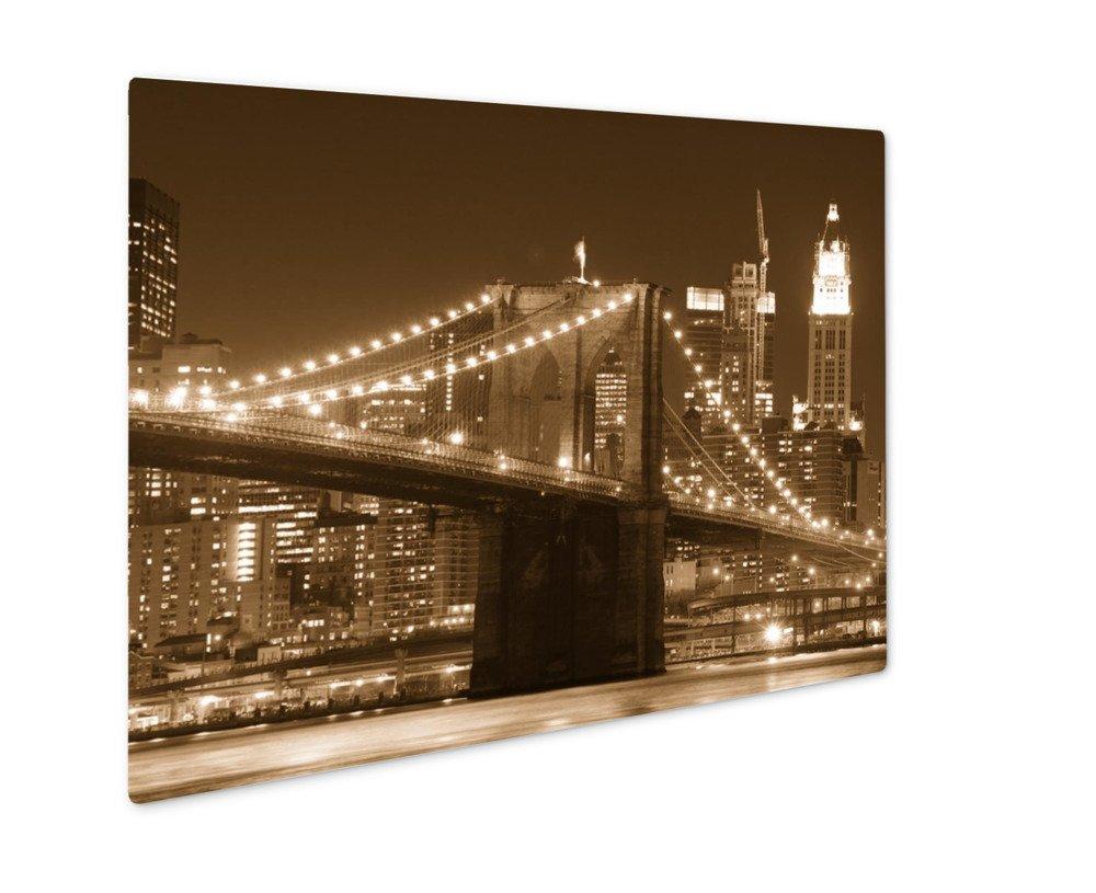 ashley giclee brooklyn bridge at night 壁アート写真印刷メタルの