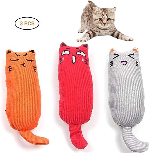Paquete de 3 Gatos creativos Catnip Toys Play Toy para Limpiar los ...