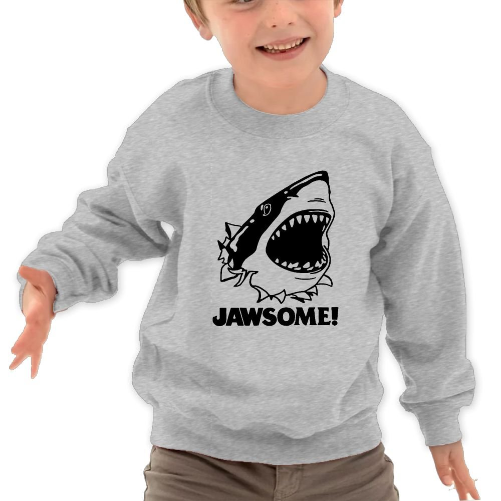 Babyruning Awesome Shark Unisex Kids Cotton Hoody Popular Long-Sleeved Tops