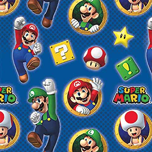 Super Mario Roll of Gift Wrap (20sq. (Mario Wrapping Paper)