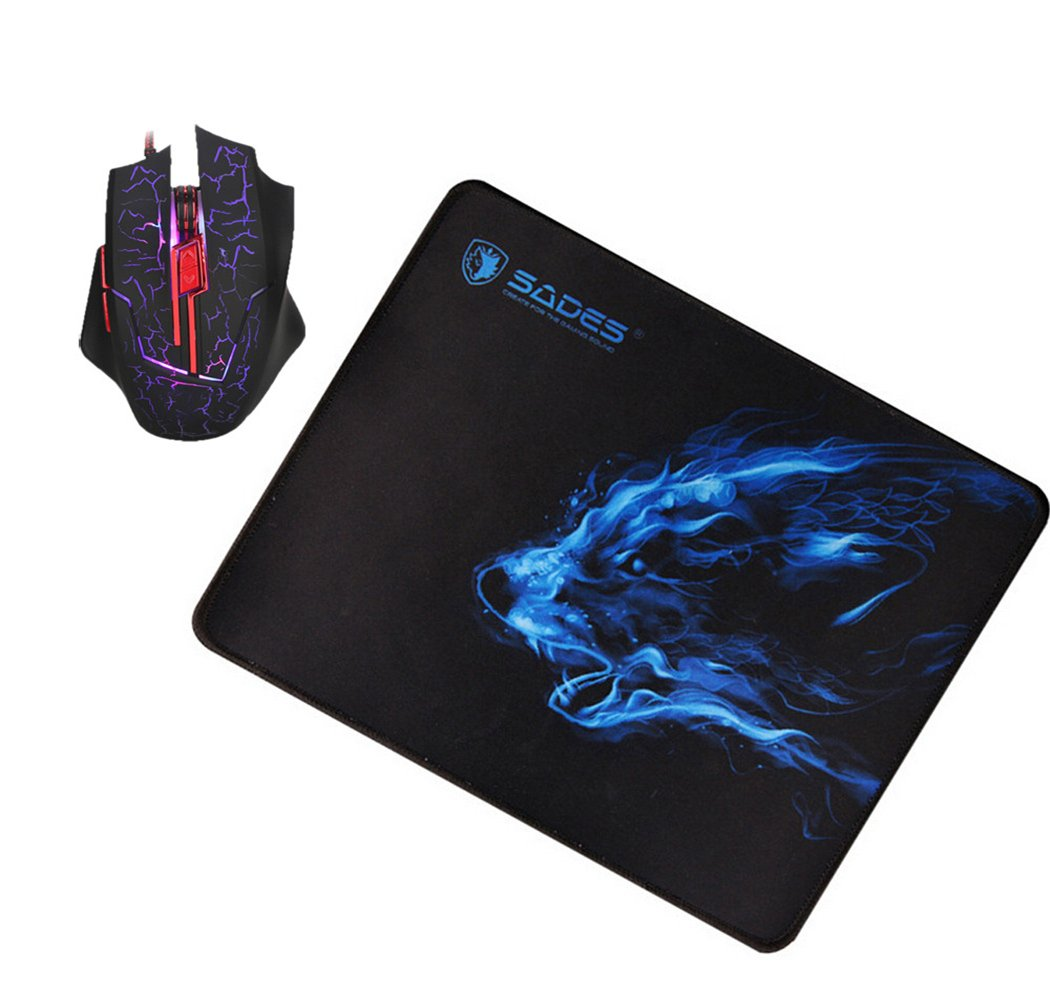 250 3 MM anti-glisse ordinateur portable Tapis de souris Bleu 300