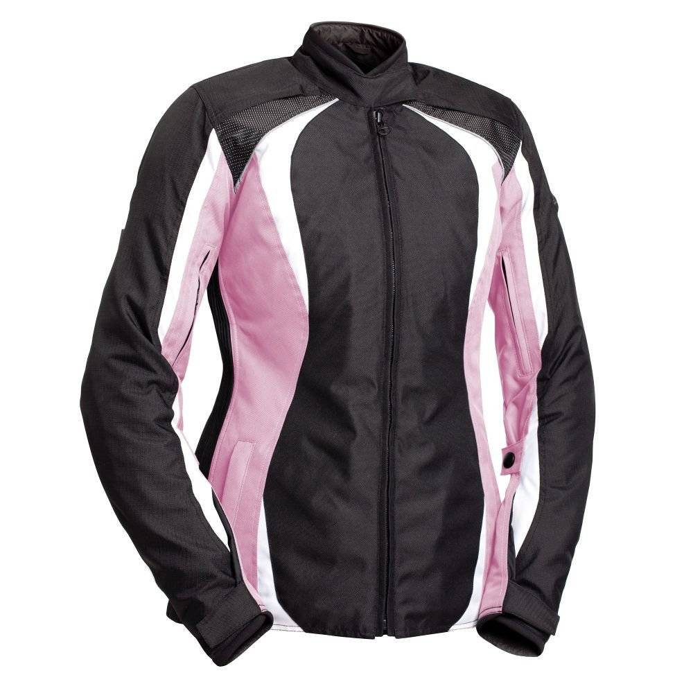 BILT Women's Tempest Waterproof Textile Motorcycle Jacket - SM, Pink/Black