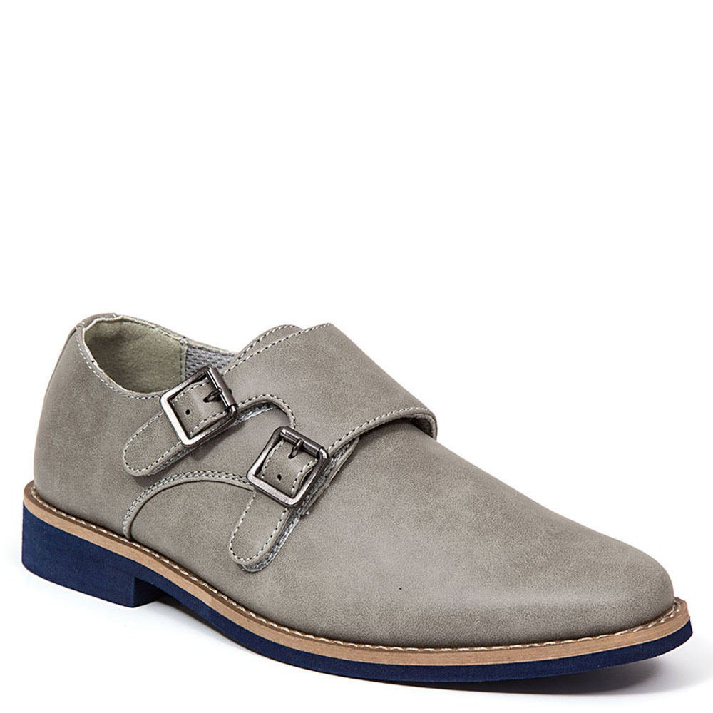 Deer Stags Harry Dress Monk Strap Boys' Toddler-Youth Oxford 13.5 M US Little Kid Grey