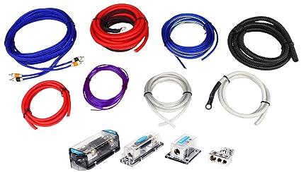 amazon com rockville rda0 4k 0 4 gauge dual amplifier installation rh amazon com Best Amp Wiring Kit 4-gauge dual amplifier power wiring kit
