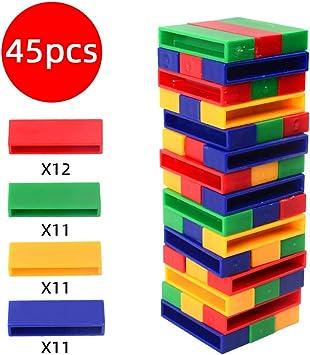 Juegos de Mesa de plástico apilables, Bloques de construcción para niños, Bloques de Colores Jenga Que construyen Juguetes para niños pequeños: Amazon.es: Juguetes y juegos